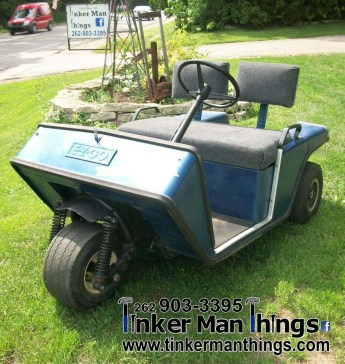 Tinker Man Things 1980 EZ GO 3 Wheel Golf Cart (1)
