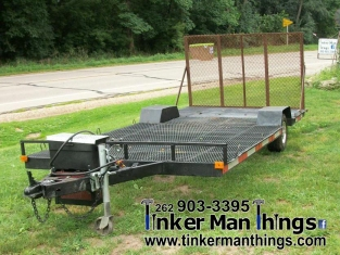 Tinker Man Things 14 ft Flatbed Trailer (1)