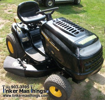 Tinker Man Things Yard Machine Riding Mower (3)