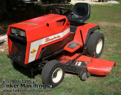 Simplicity Sunstar Riding Mower (1)