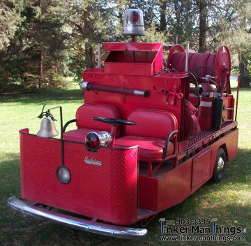 Tinker Man Things Fire Truck Golf Cart 003