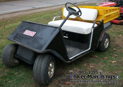 Tinker Man Things 1983 EZ GO Golf Cart with Dump Box (1)