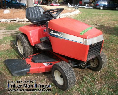 Tinker Man Things Simplicity Mower (1)